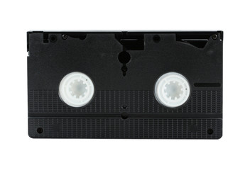 Isolated VHS cassette tape