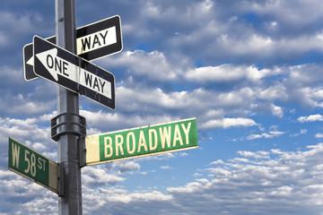 Broadway sign in Manhattan New York