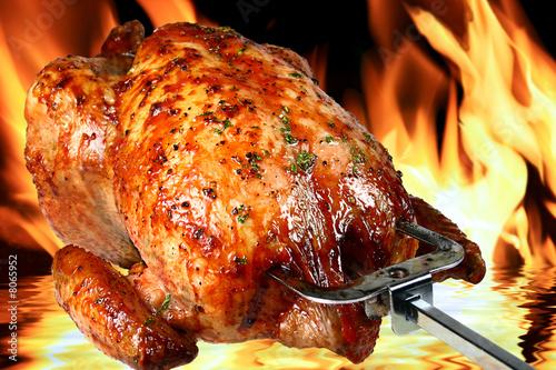 Fotobehang Kruidenierswinkel roast chicken