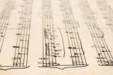 Retro handwritten sheet music poster