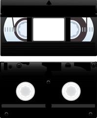 Vector illustration of a video cassette