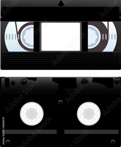 Vector illustration of a video cassette