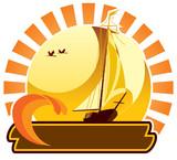 Summer icon - yacht