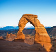 canvas print picture - Delicate arch, Arches National Park, USA