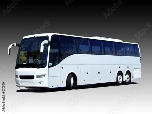 blank white bus