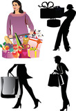 women with purchases poster
