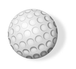 Pelota de golf aislada