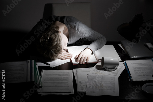 asleep working overhours