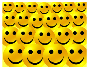 Crowd of Happy Smileys