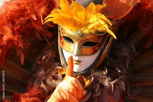 Fotobehang Carnaval Le penseur de Venise