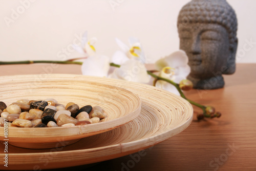 canvas print picture zen table