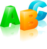 ABC icon poster