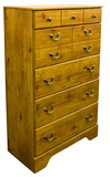 Country Pine Chest of Drawers in Golden Finish poster