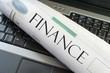 finance laptop