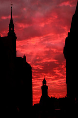 Sonnenuntergang in der Görlitzer Altstadt