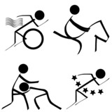 Sports Icons (Triathlon/Equestrian/Wrestling/Pentathlon) poster
