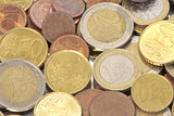 Euro coins, can be used as background