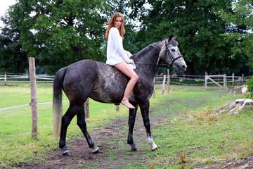 ausritt mit pferd