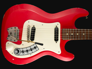 Retro British red electric guitar body