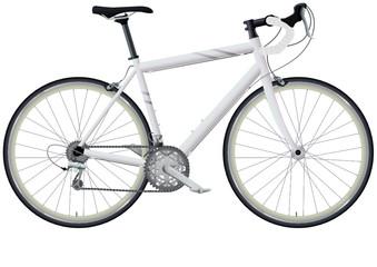 Vélo de course blanc (détouré)