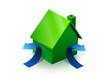 Maison verte et isolation (reflet)