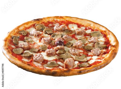 pizza con salsiccia e funghi