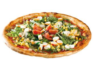pizza con surimi e mais