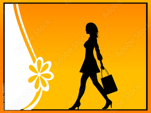 lady with shopping bag