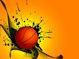 Fototapety basket ball with grunge
