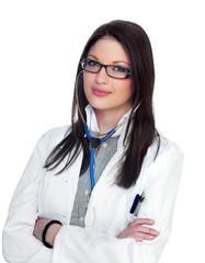 Happy female doctor