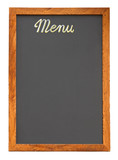 Empty menu board cutout poster