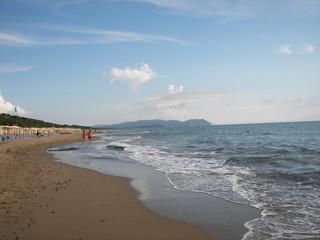 Tramonto a San Vincenzo dalla costa degli Etruschi
