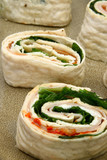 Spinach Ham Wrap with Ranch poster
