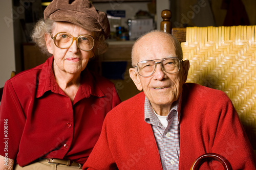 Senior Man and Woman Sitting  Holding Hands.  Pleasant  t-shirt