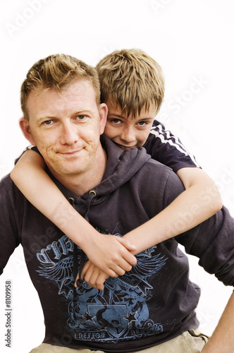 Father with his son.
