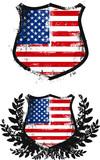 Fototapety american grunge shield