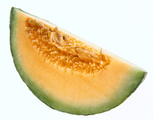A segment of ripe melon