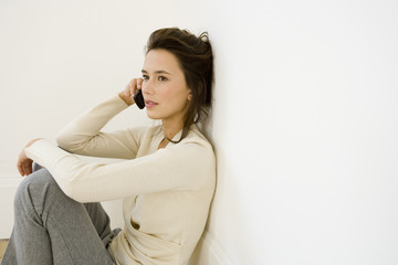A young woman using a mobile phone