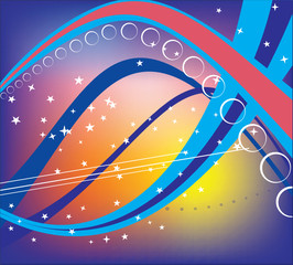 Cosmic highway  . Vector.