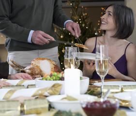 Dishing up the Christmas turkey
