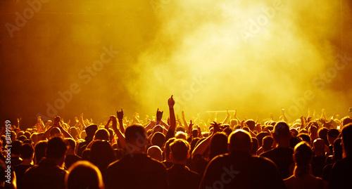 1001 gelbe Konzertfans