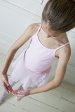 Little girl in a ballet pose