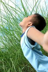 boy enjoy outdoor