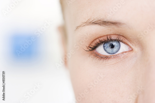 Woman's right eye
