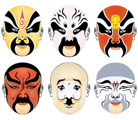 types of facial make-up in Beijing opera set eight
