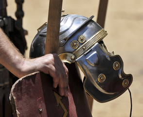 Roman Helmet & Shield