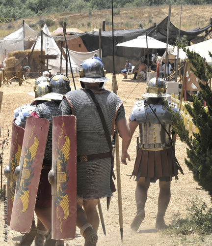 Roman soldiers in camp