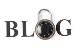 Blog and lock poster