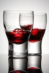 Cherry brandy with ice