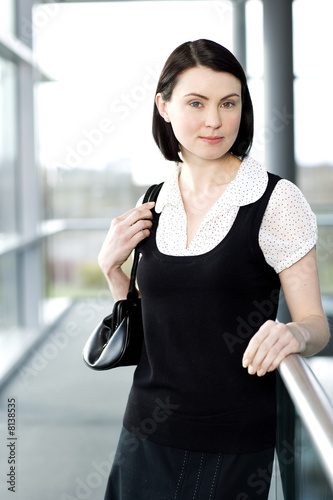 Portrait of a young businesswoman in an office building